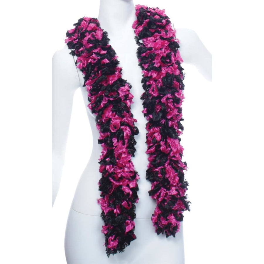 Boa Featherless Black Hot Pink - 20s - 40s Costume Feather boa Gangster &