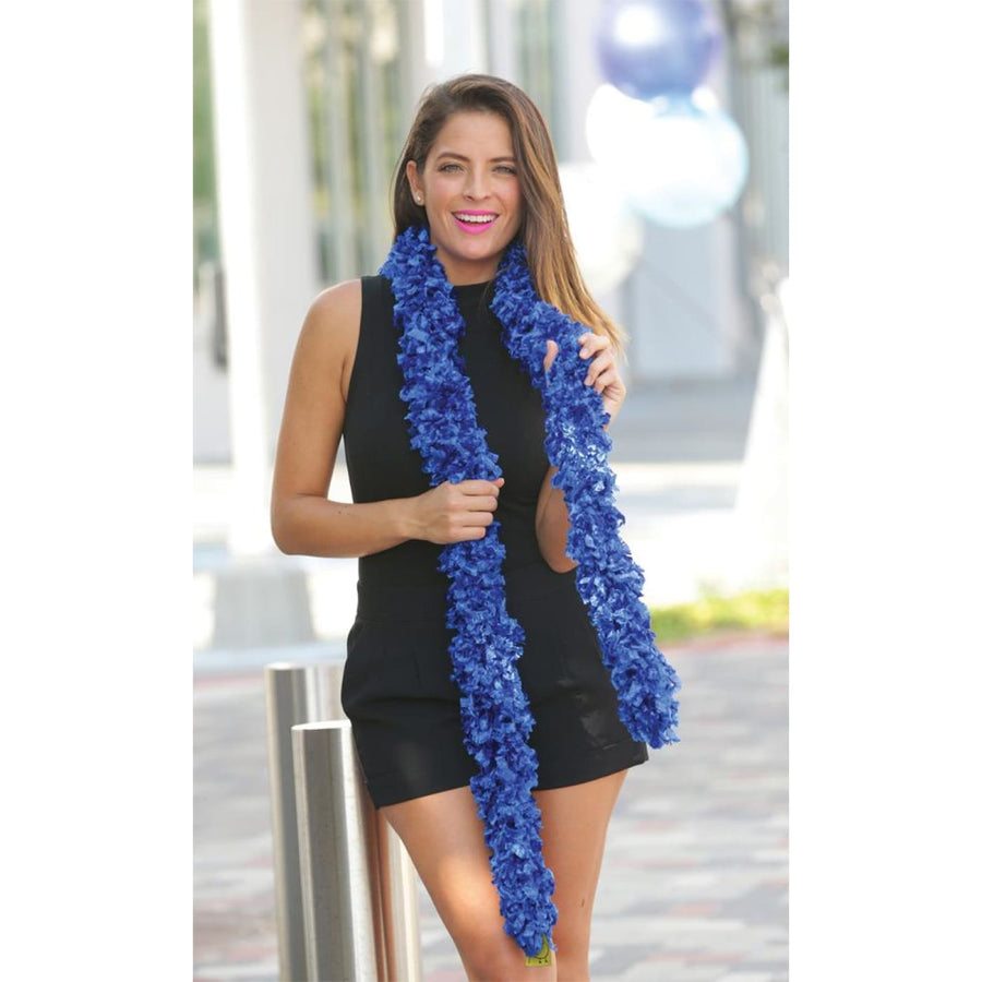 Boa Featherless Blue - 20s - 40s Costume Feather boa Gangster & Flapper Costume