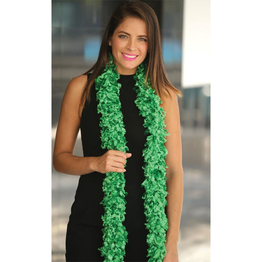 Boa Featherless Green - 20s - 40s Costume Feather boa Gangster & Flapper Costume