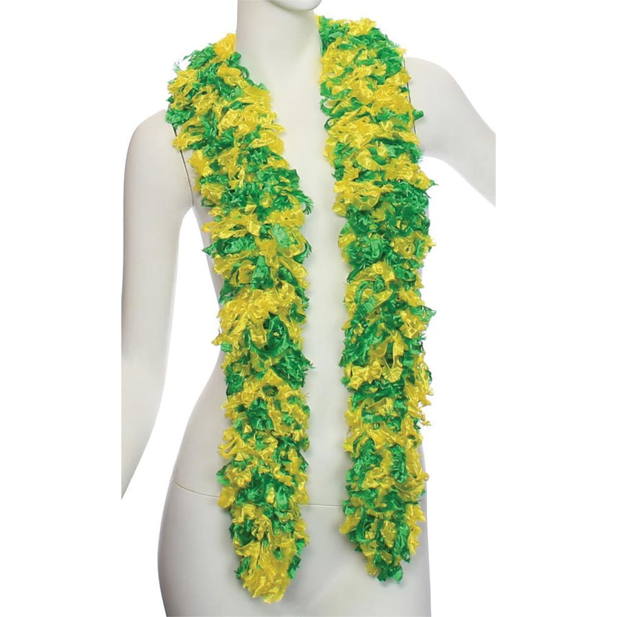 Boa Featherless Green Yellow - 20s - 40s Costume Feather boa Gangster & Flapper