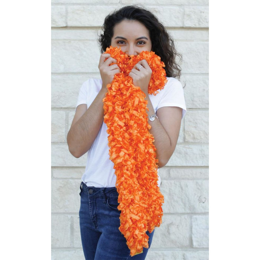 Boa Featherless Orange - 20s - 40s Costume Feather boa Gangster & Flapper