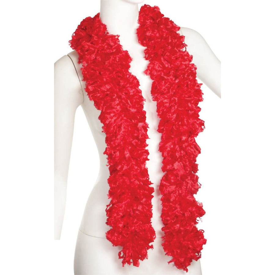 Boa Featherless Red - 20s - 40s Costume Feather boa Gangster & Flapper Costume