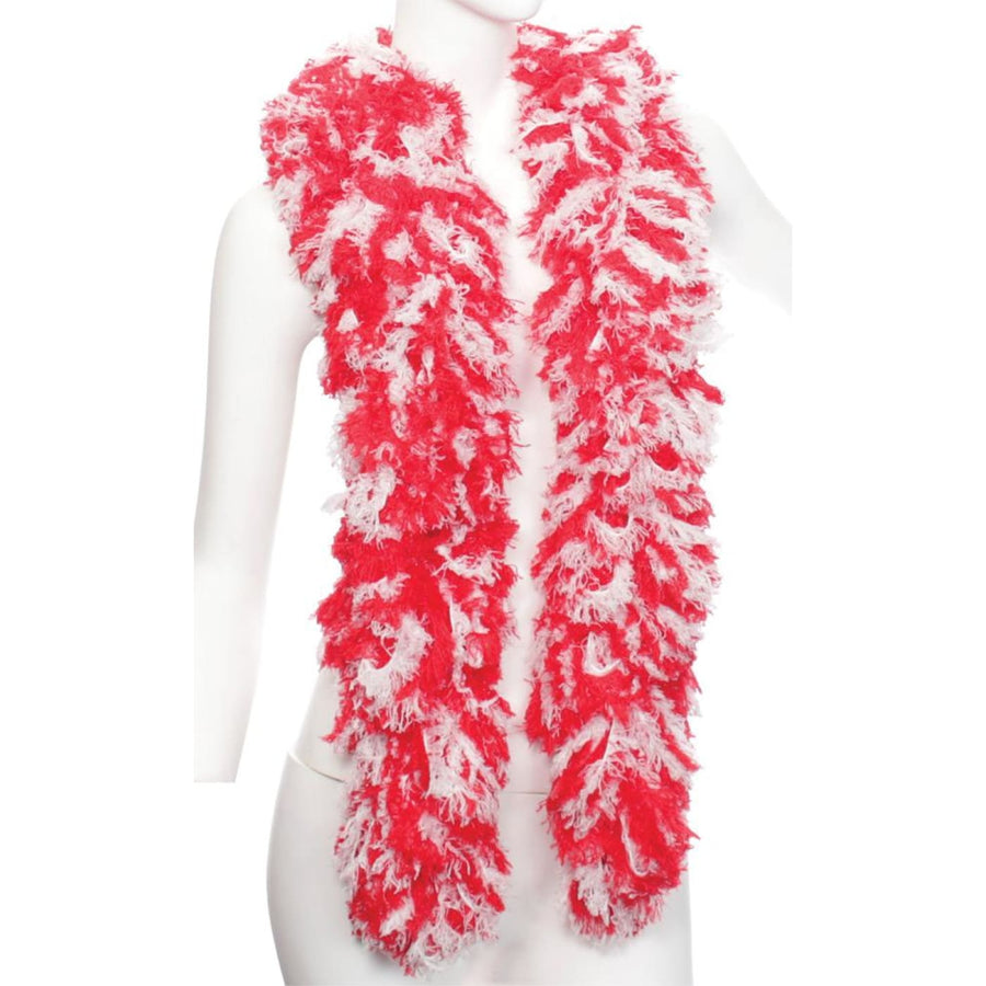 Boa Featherless Red White - 20s - 40s Costume Feather boa Gangster & Flapper
