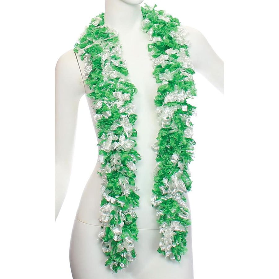 Boa Featherless St Patricks Day Green White - 20s - 40s Costume Boa Featherless
