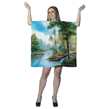 Bob Ross Painting Dress Adult Costume - adult halloween costumes Halloween