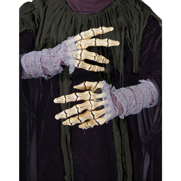 Bone Hands With Gauze - Ghoul Skeleton & Zombie Costume Halloween costumes Hands