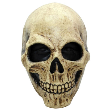 Bone Skull Latex Costume Mask - Costume Masks Ghoul Skeleton & Zombie Costume