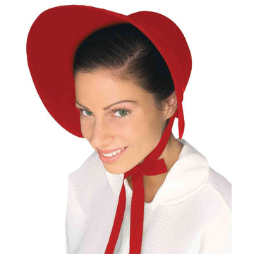 Bonnet Felt Red Hat - Halloween costumes Hats Tiaras & Headgear Historical