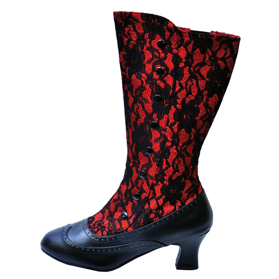 Boot Spooky Red Size 7 - Gothic & Vampire Costume Halloween costumes Pirate