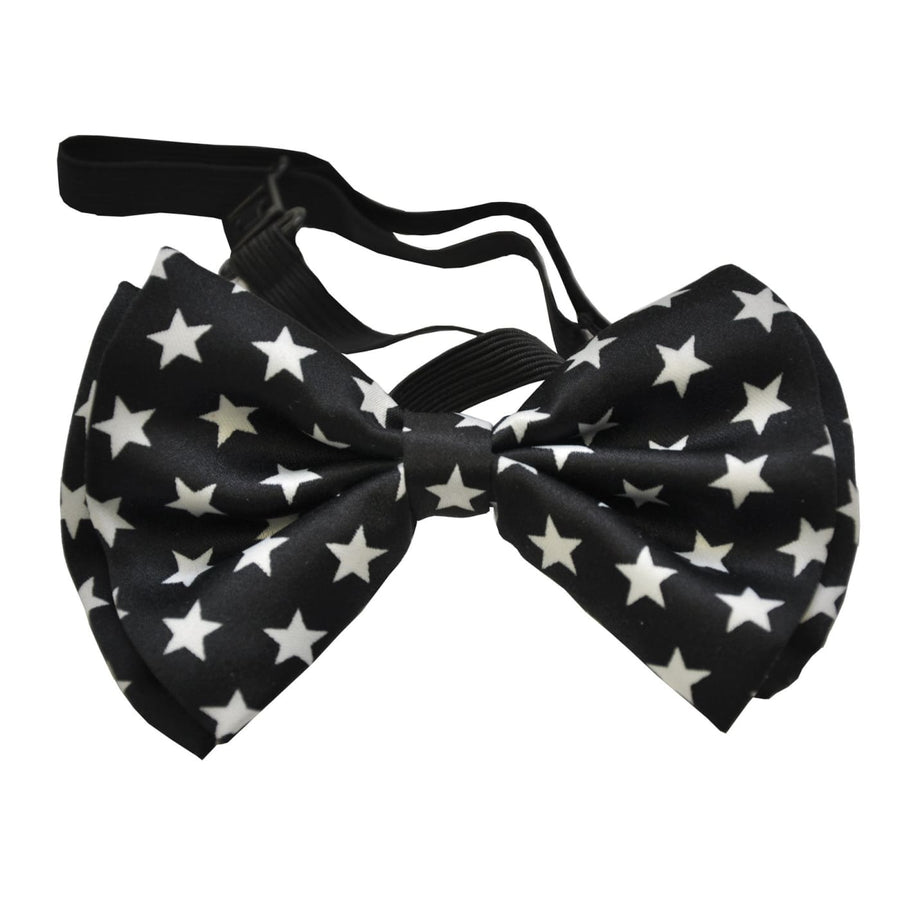 Bow Tie Black W White Stars - Clown & Mime Costume clown costumes Halloween