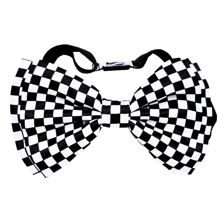 Bow Tie White Black Check - Bow Tie White Black Check Halloween costumes