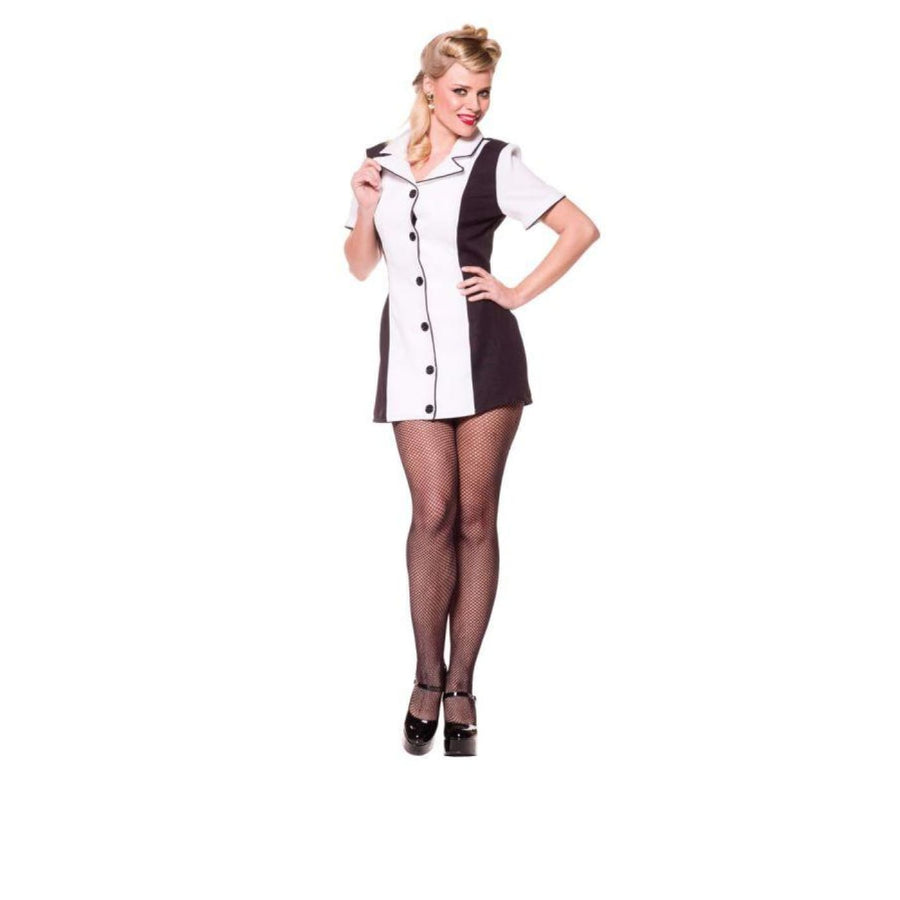 Bowling Dress Black/White Lg - adult halloween costumes Cheerleader & Sports