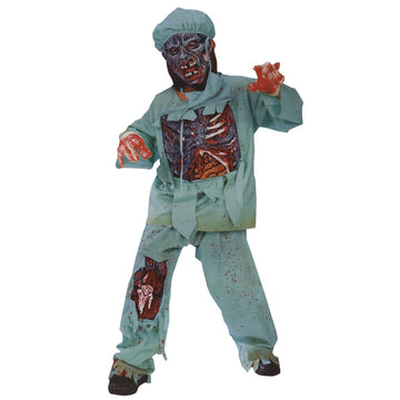 Boys Costume Zombie Doctor Sm - Boys Costumes boys Halloween costume Child