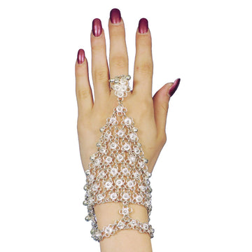 Bracelet Triangle Slave Silver - Belly Dancer & Eastern Costume Fashion Jewelry