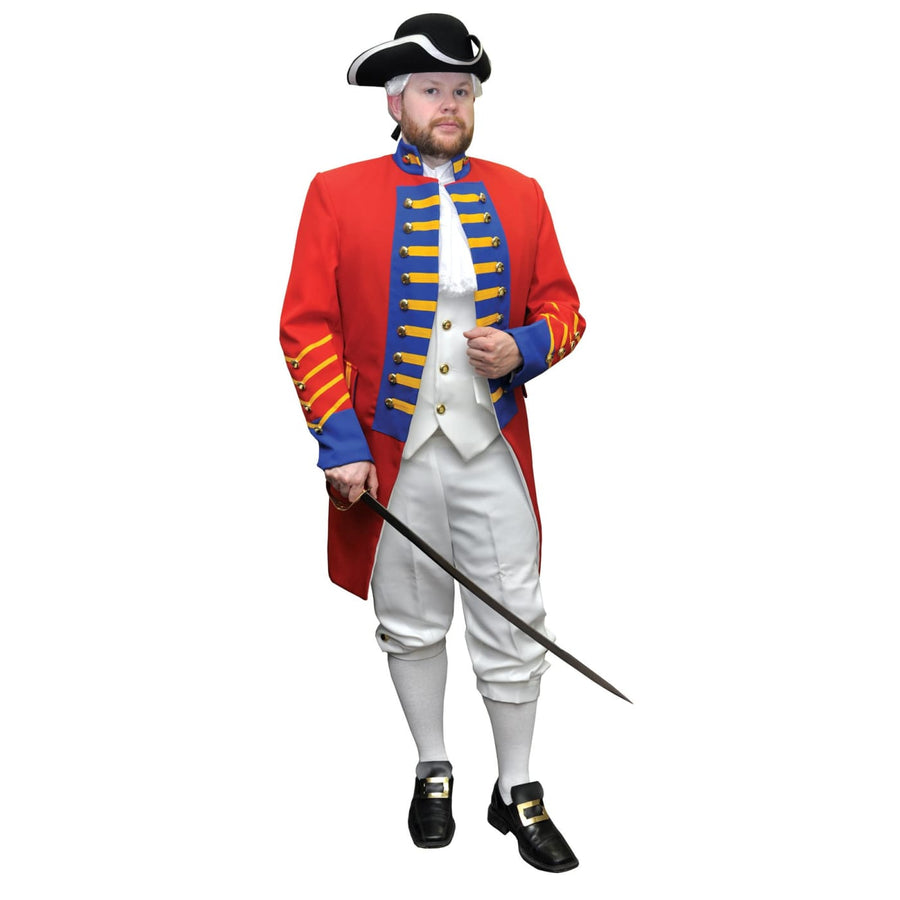British Rev Officer Lg - adult halloween costumes halloween costumes male