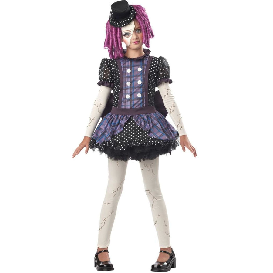 Broken Doll Kids Costume Medium 8-10 - Girls Costumes girls Halloween costume