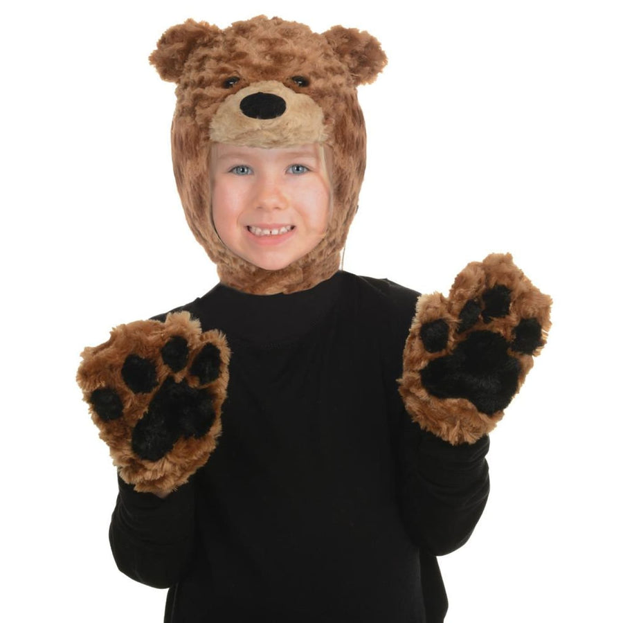 Brown Bear Girls Costume Animal Accessory Kit Pack - Brown Bear Girls Costume