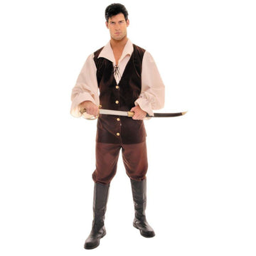 Buccaneer Tan Brown One Sz - adult halloween costumes halloween costumes