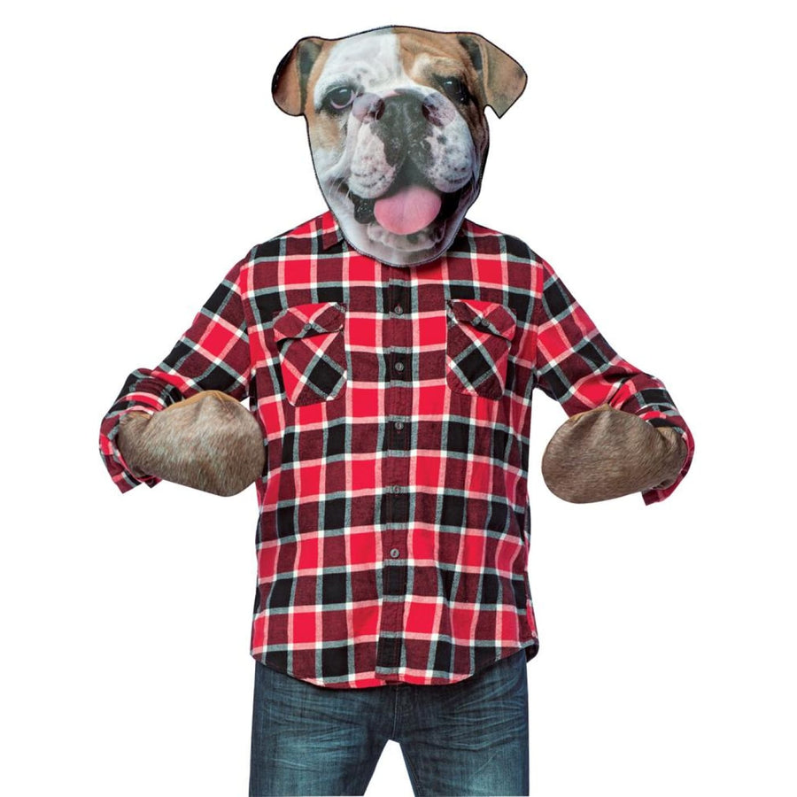 Bull Dog Head With Paws Adult Costume - adult halloween costumes halloween