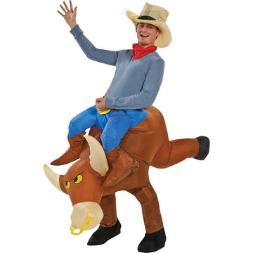 Bull Rider Inflatable - adult halloween costumes Funny Costume halloween