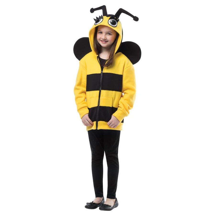 Bumble Bee Hoodie Toddler Costume 3-4T - Animal & Insect Costume Halloween