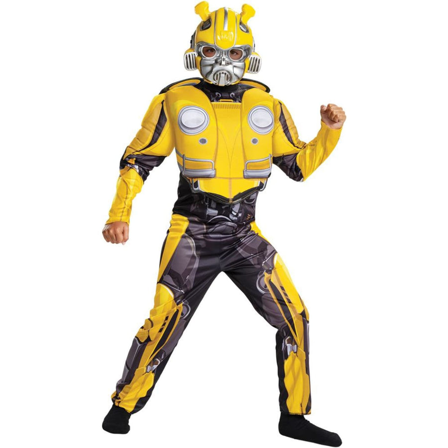 Bumblebee Classc Boys Costume Muscle 7-8 - Boys Costumes New Costume