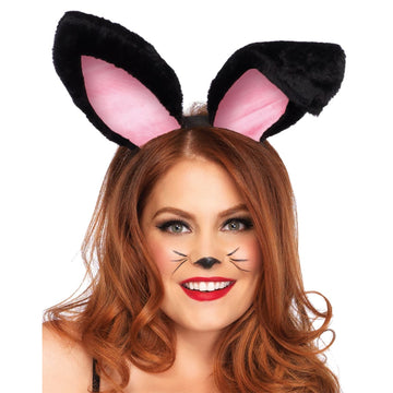 Bunny Ears Adult Plush Black - Animal & Insect Costume Halloween costumes Hats