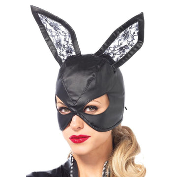 Bunny Leather Black Costume Mask - Animal & Insect Costume Costume Masks