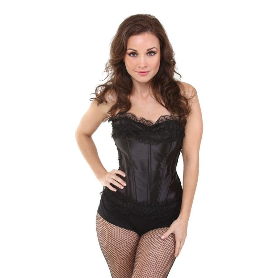 Bustier Black W Black Lace Xl - Gothic & Vampire Costume Halloween costumes