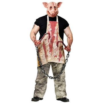Butcher Pig Adult Costume - Halloween costumes Serial Killer Costume Weapons