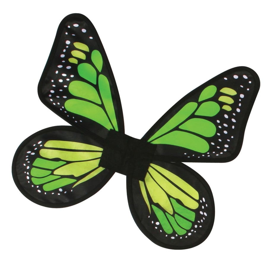 Butterfly Wings Satin Kids Costume Green - Angel & Fairy Costume Halloween