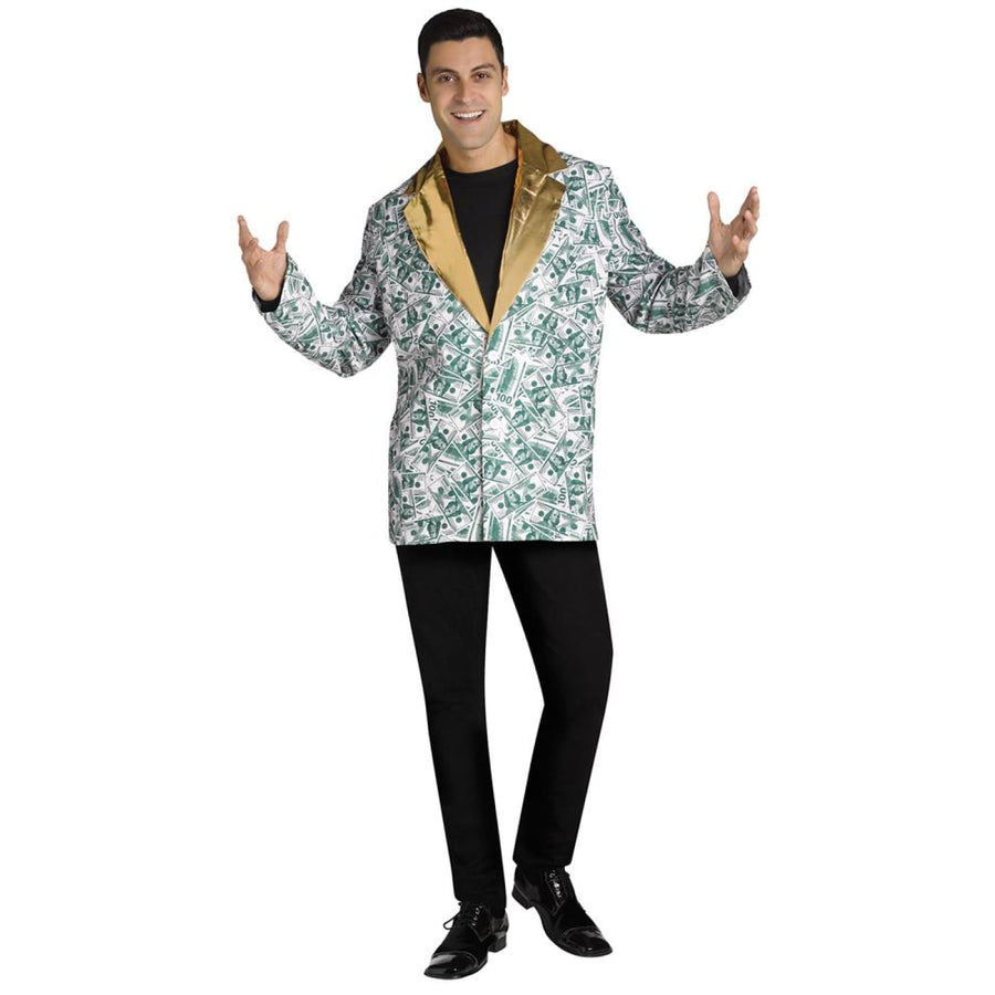 C-Note Coat Adult Costume - Halloween costumes Mens Costumes