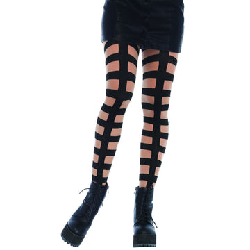 Caged In Strappy Illusion Tigh - Halloween costumes Tights Socks & Underwear