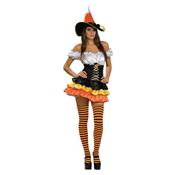 Candy Corn Cutie Adult Md - adult halloween costumes female Halloween costumes