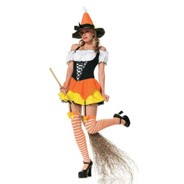 Candy Corn Witch Sm - adult halloween costumes female Halloween costumes
