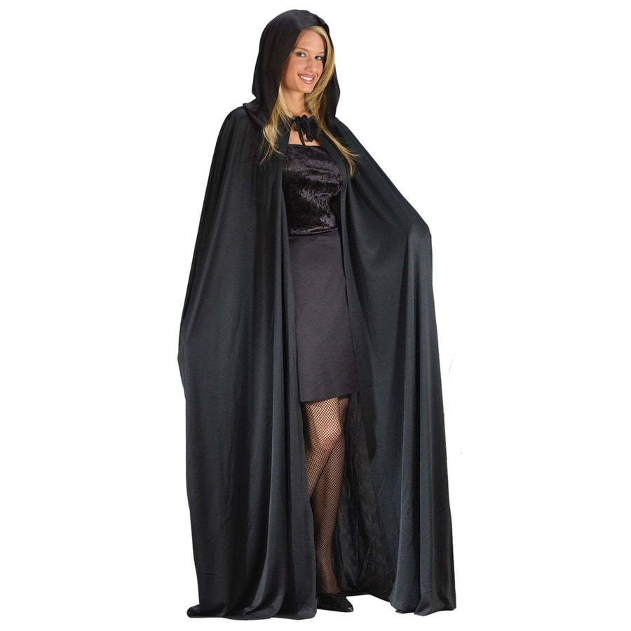 Cape 74 Inch Hooded White - Halloween costumes Robes Capes & Wings