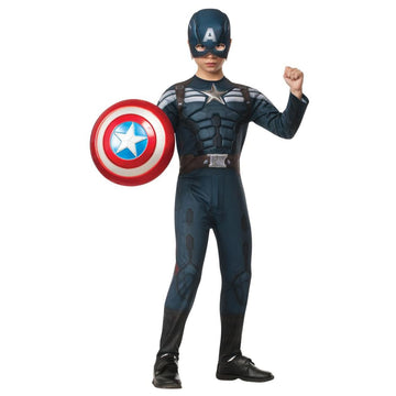 Captain America 2 Stealth Boys Costume Large - Boys Costumes Captain America