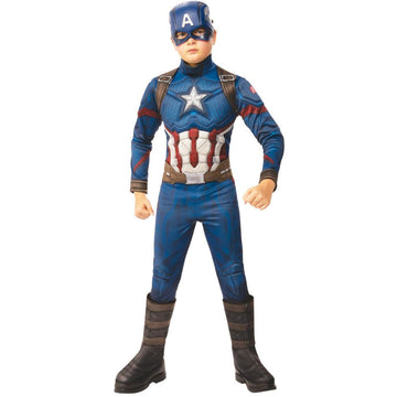 Captain America Avengers 4 Deluxe Boys Costume Small - Boys Costumes New Costume