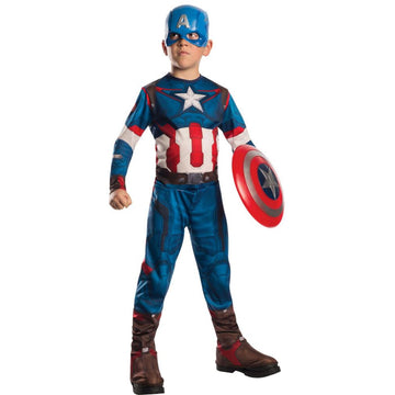 Captain America Boys Costume Large - Boys Costumes Halloween costumes New