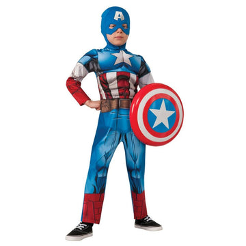 Captain America Boys Costume Small - Boys Costumes boys Halloween costume