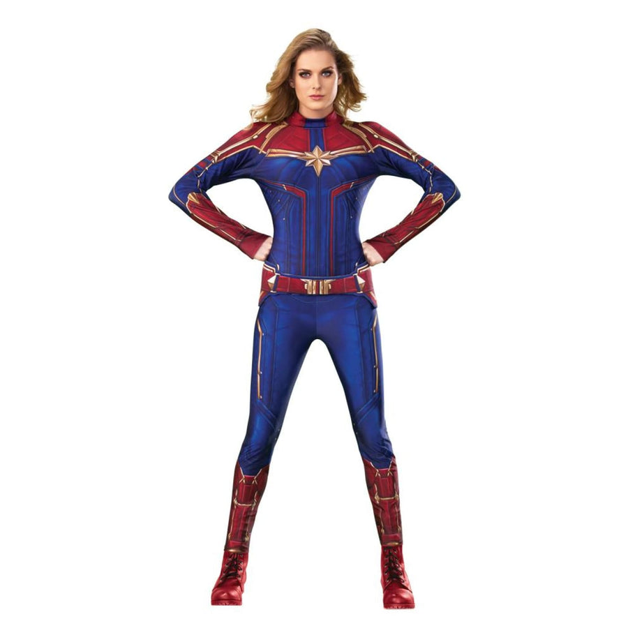 Captain Marvel Deluxe Womens Costume Xsmall 2-6 - New Costume Womens Costumes