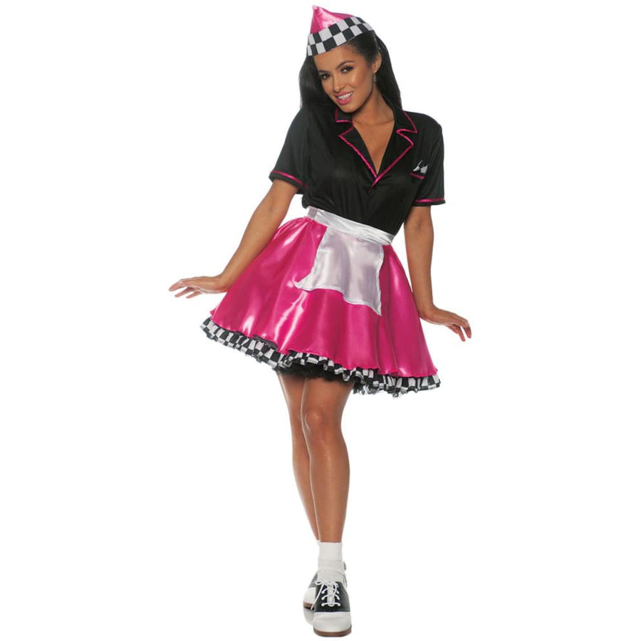 Car Hop Pink Womens Costume Md - Car Hop Pink Womens Costume Md Halloween