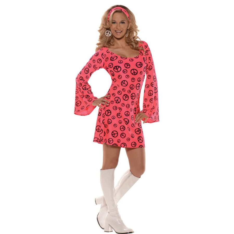Car Hop Pink Womens Costume Sm - Car Hop Pink Womens Costume Sm Halloween