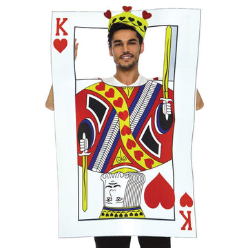 Card King With Foam Card Mens Costume - Card King With Foam Card Mens Costume