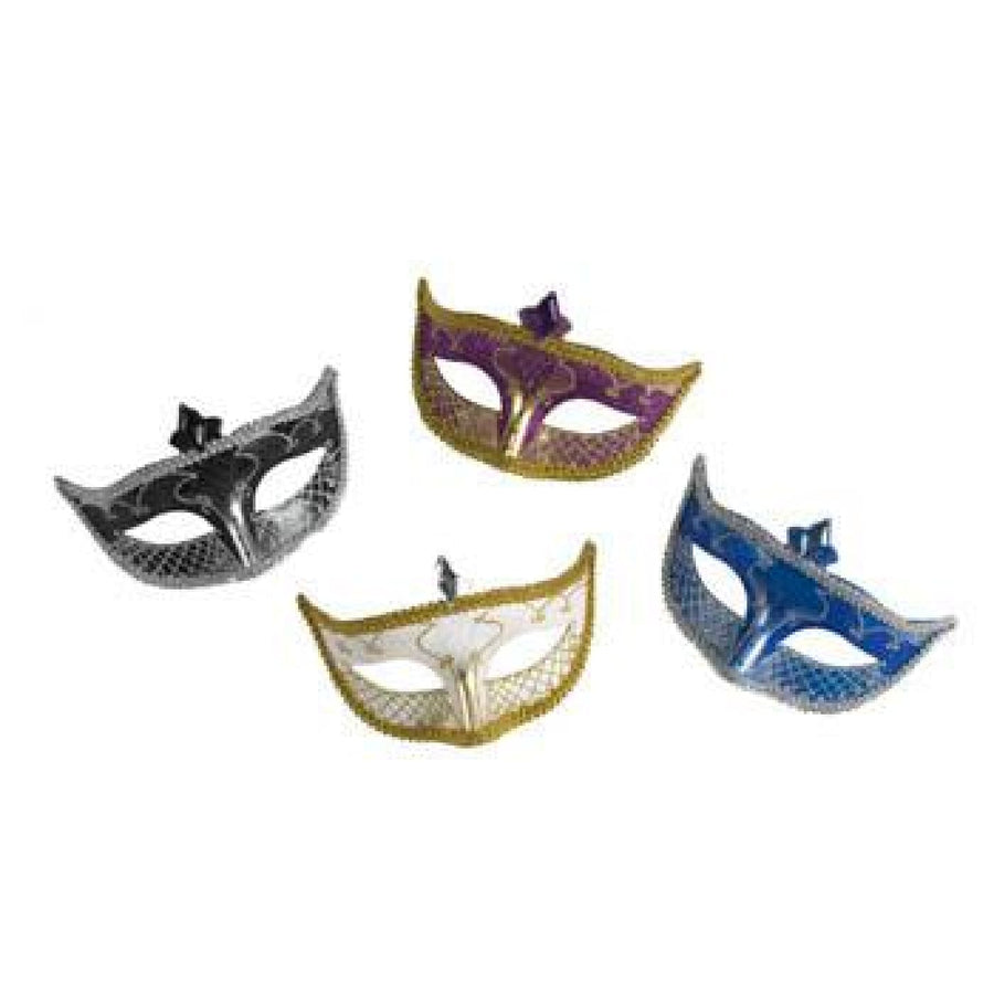 Carnival Mask No Feather Purple - Costume Masks Halloween costumes Halloween