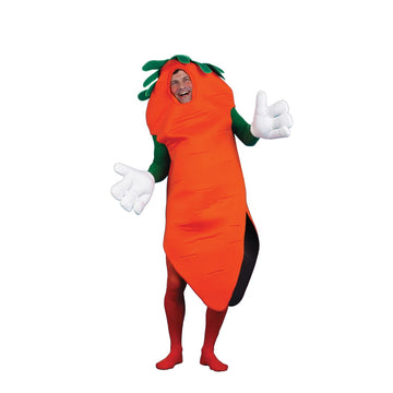 Carrot & Gloves Adult Costume - adult halloween costumes Carrot Halloween