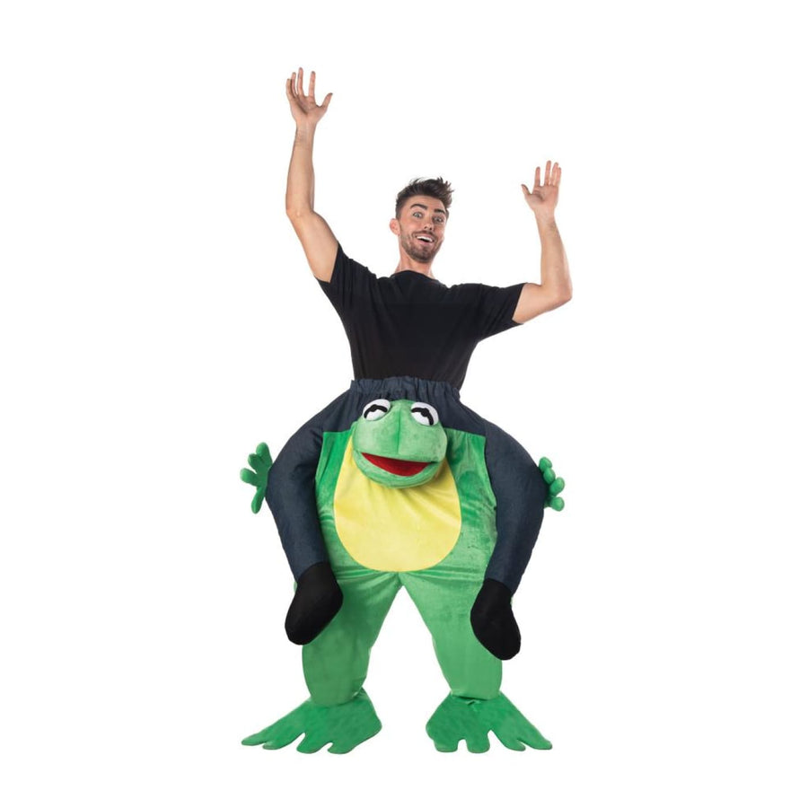 Carry Me Frog Adult Costume - Mens Costumes New Costume Womens Costumes