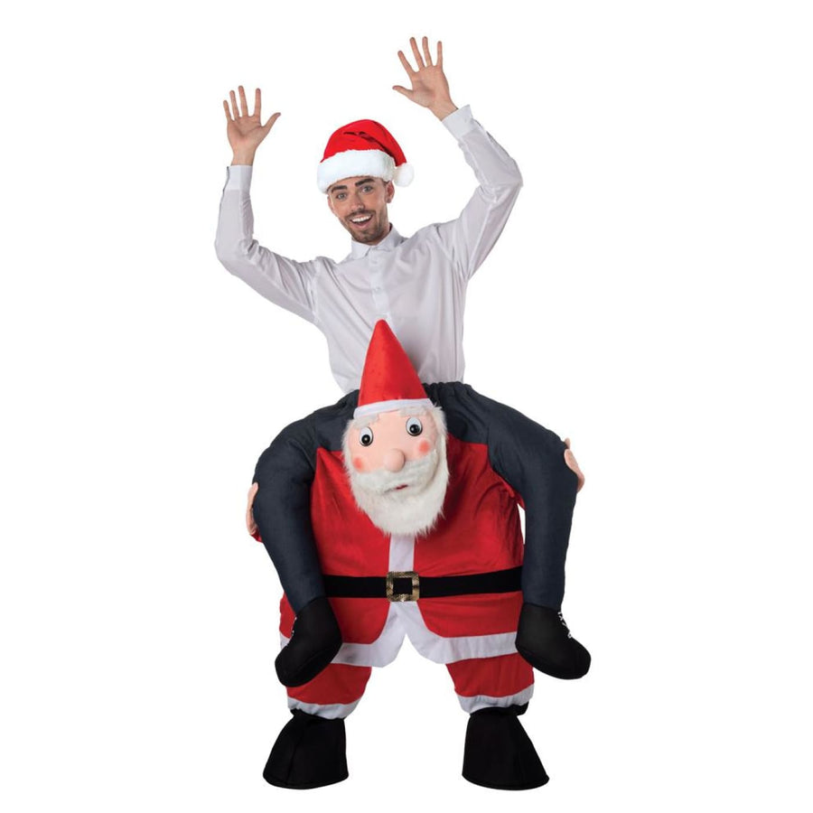 Carry Me Santa Adult Costume - Mens Costumes New Costume Womens Costumes