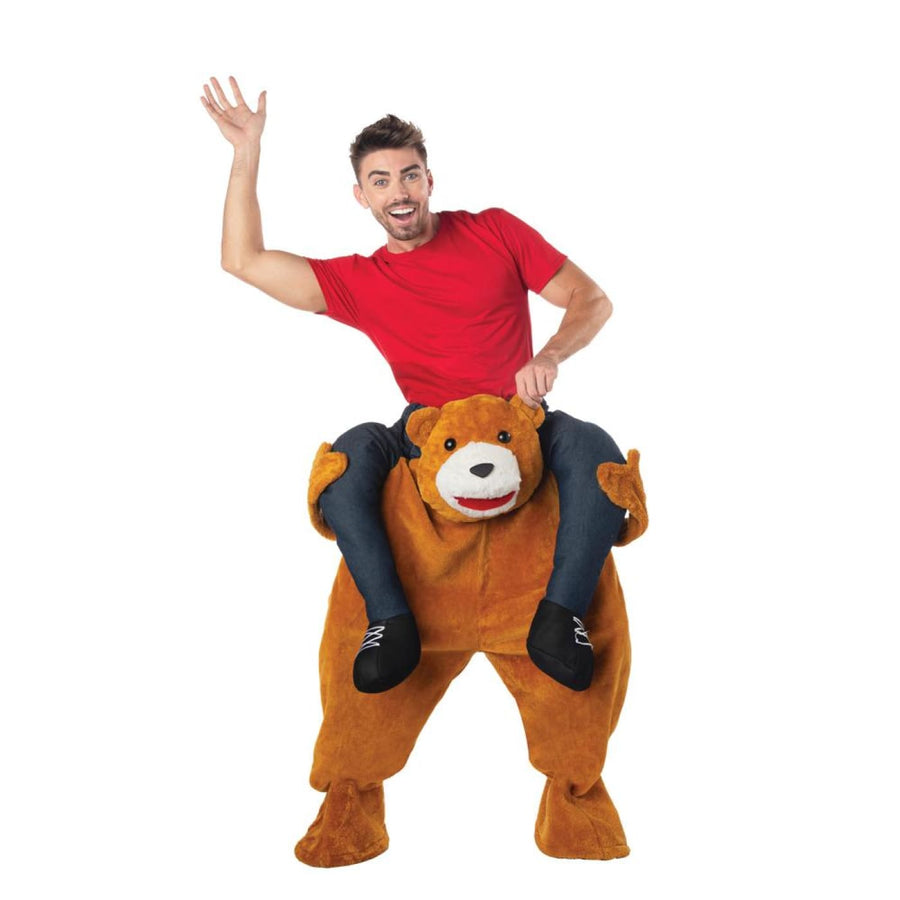 Carry Me Teddy Bear Adult Costume - Mens Costumes New Costume Womens Costumes