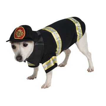 Cat & Dog Costume Firefighter Sm - Dog Costume dog costumes Dog Halloween